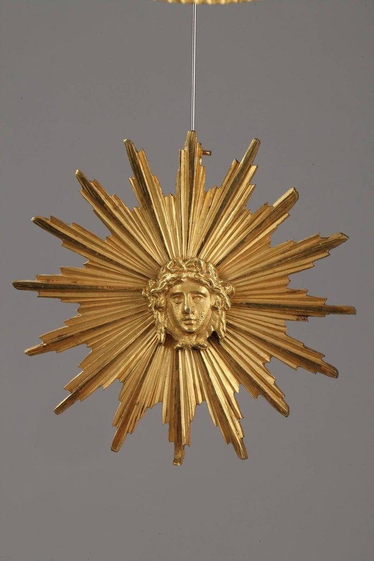 Marble and Gilt Bronze Portico Clock-Empire Period For Sale 2