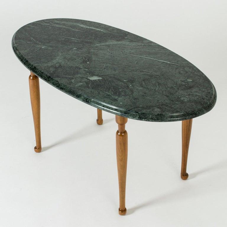 Scandinavian Modern Marble and Mahogany Side Table by Josef Frank for Svenskt Tenn, Sweden, 1950s For Sale