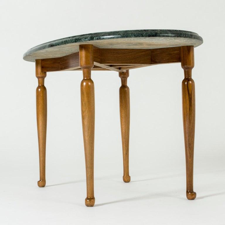 Swedish Marble and Mahogany Side Table by Josef Frank for Svenskt Tenn, Sweden, 1950s For Sale