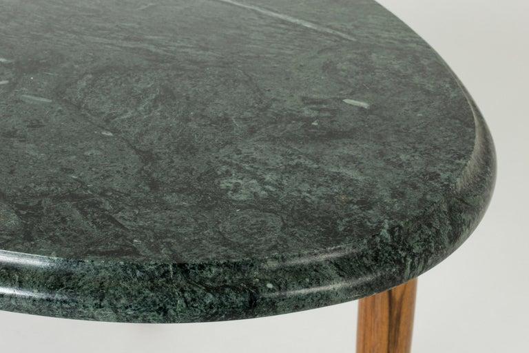 Marble and Mahogany Side Table by Josef Frank for Svenskt Tenn, Sweden, 1950s For Sale 1