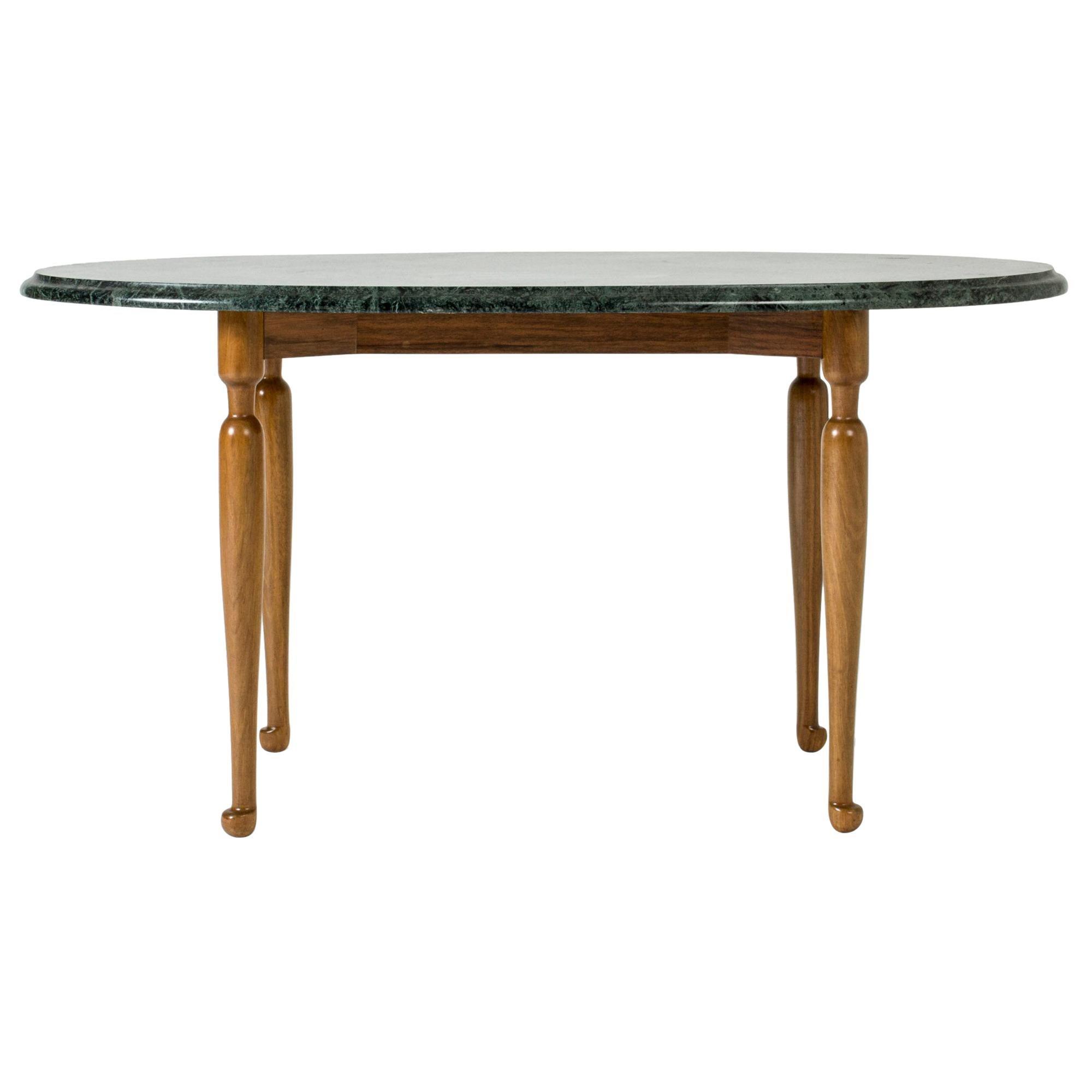 Marble and Mahogany Side Table by Josef Frank for Svenskt Tenn, Sweden, 1950s