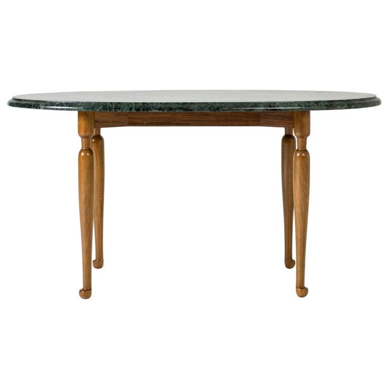 Marble and Mahogany Side Table by Josef Frank for Svenskt Tenn, Sweden, 1950s For Sale