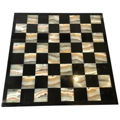 Marble and Onyx Chess Board