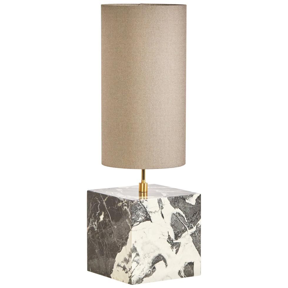 Marble and Recycled Fabric Coexist Table Lamp 'Small' by Slash Objects