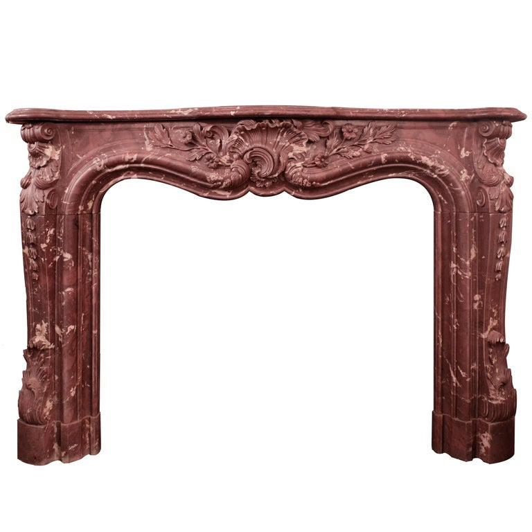 Marble and Resin Victorian Fireplace For Sale