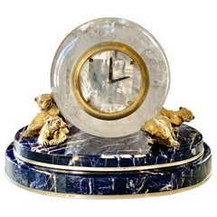 Marble and Rock-Crystal Clock by Adriano Chimento