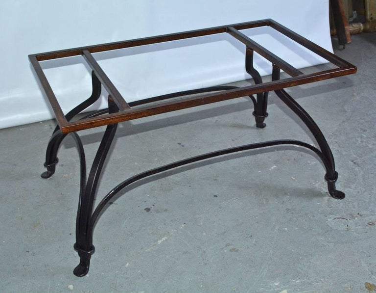 Marble and Wrought Iron Coffee Table For Sale 1