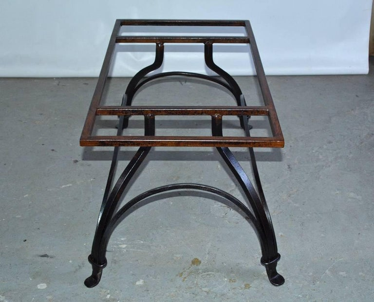 Marble and Wrought Iron Coffee Table For Sale 2