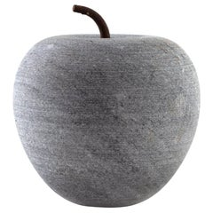 Marble Apple with Steel Stem