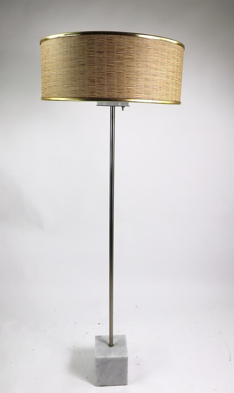 Marble Base Floor Lamp by Laurel For Sale 4