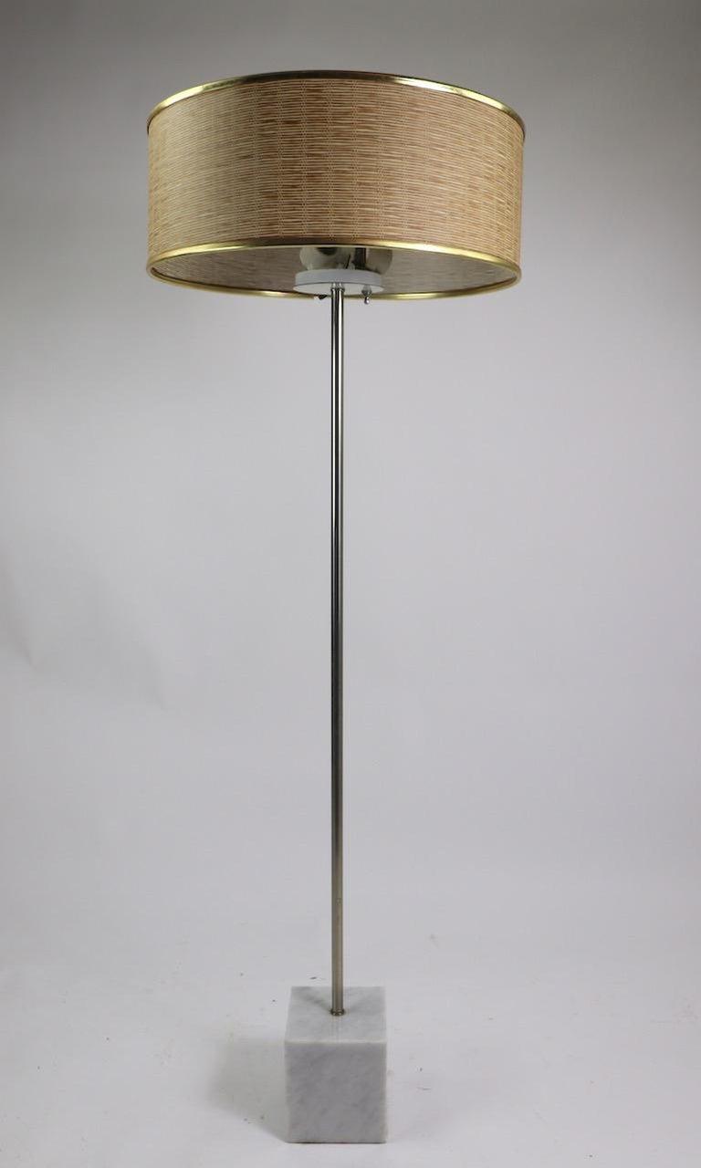 Marble Base Floor Lamp by Laurel For Sale 5