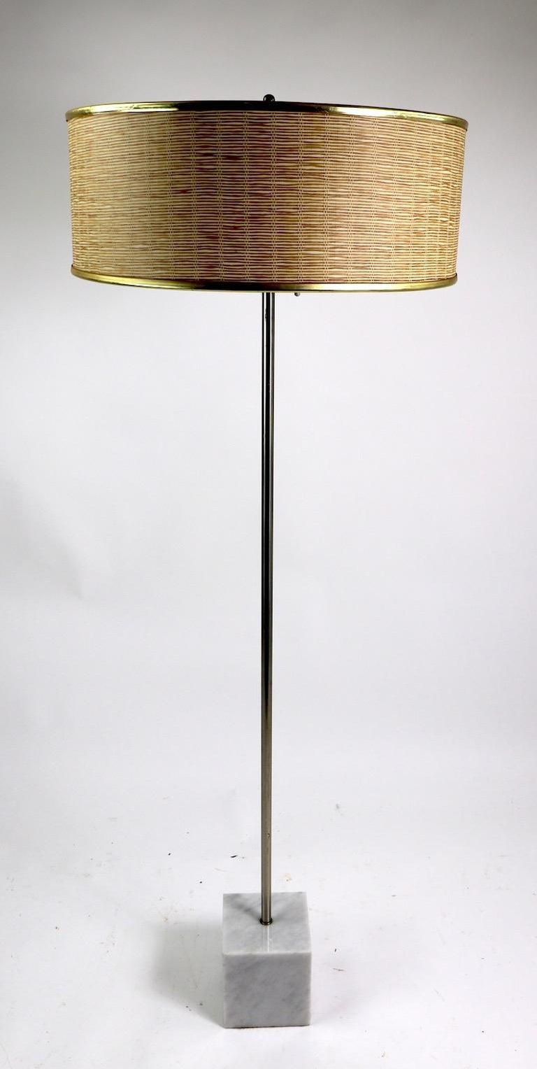 Marble Base Floor Lamp by Laurel For Sale 6