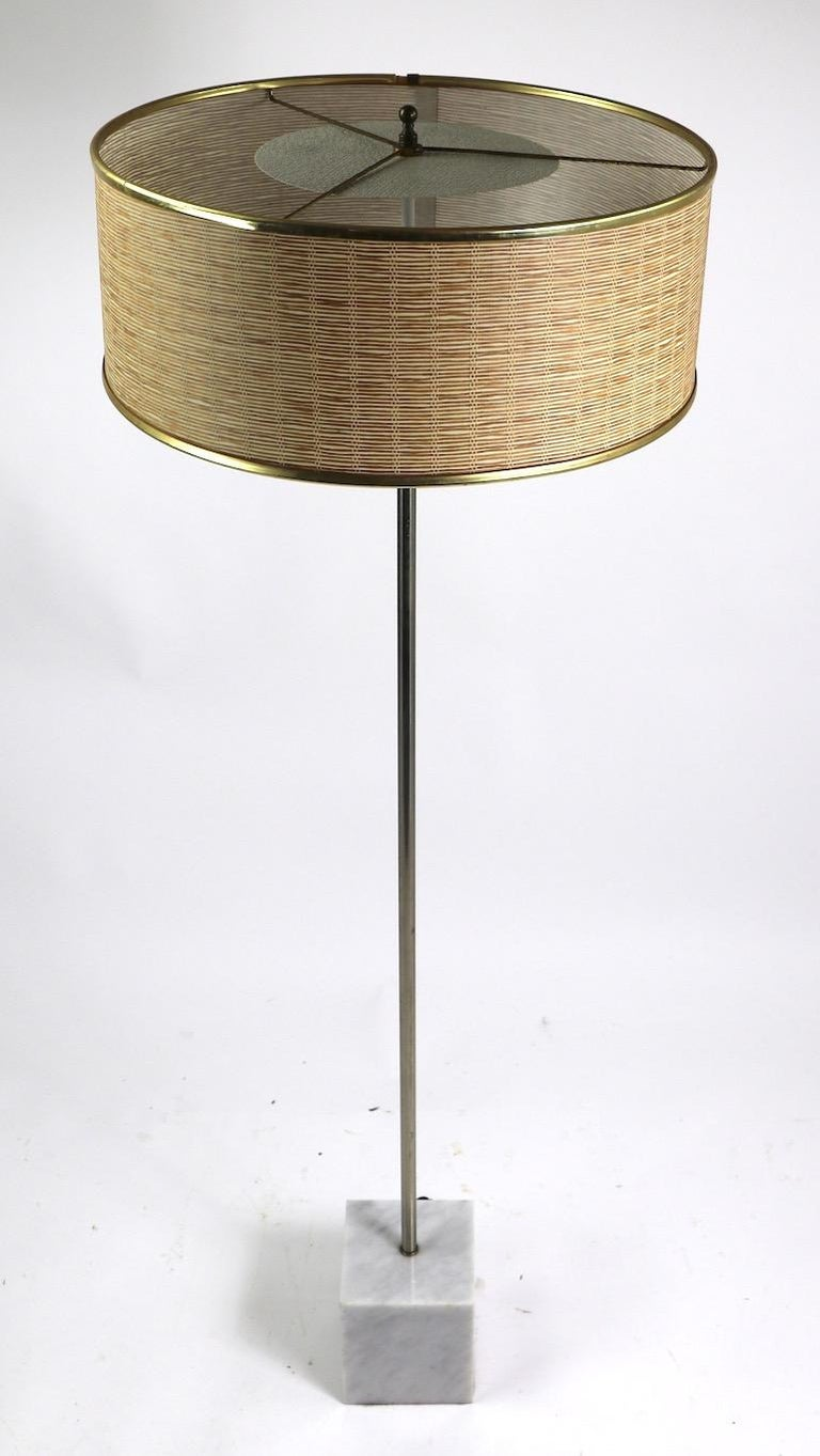 Marble Base Floor Lamp by Laurel For Sale 7