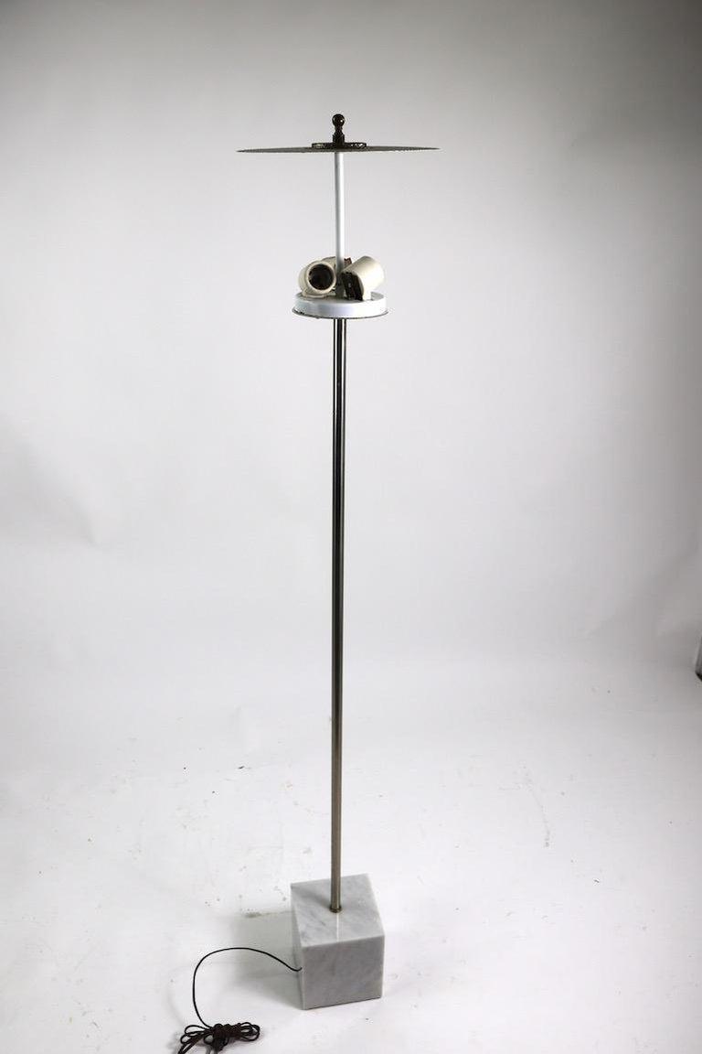 Marble Base Floor Lamp by Laurel For Sale 8