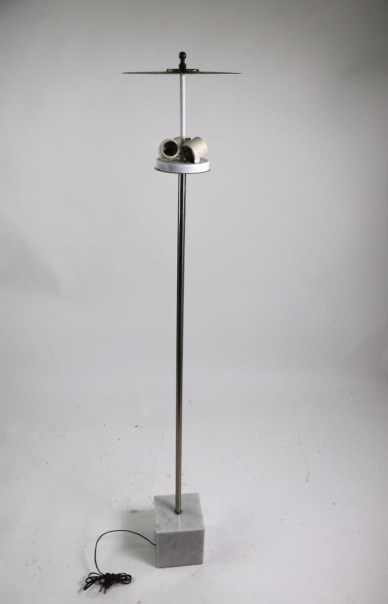 Marble Base Floor Lamp by Laurel For Sale 9