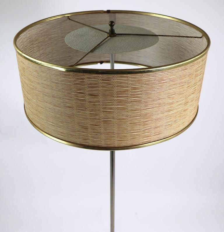 American Marble Base Floor Lamp by Laurel For Sale