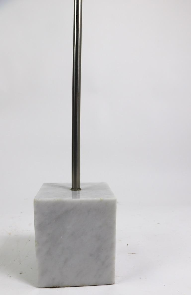 20th Century Marble Base Floor Lamp by Laurel For Sale