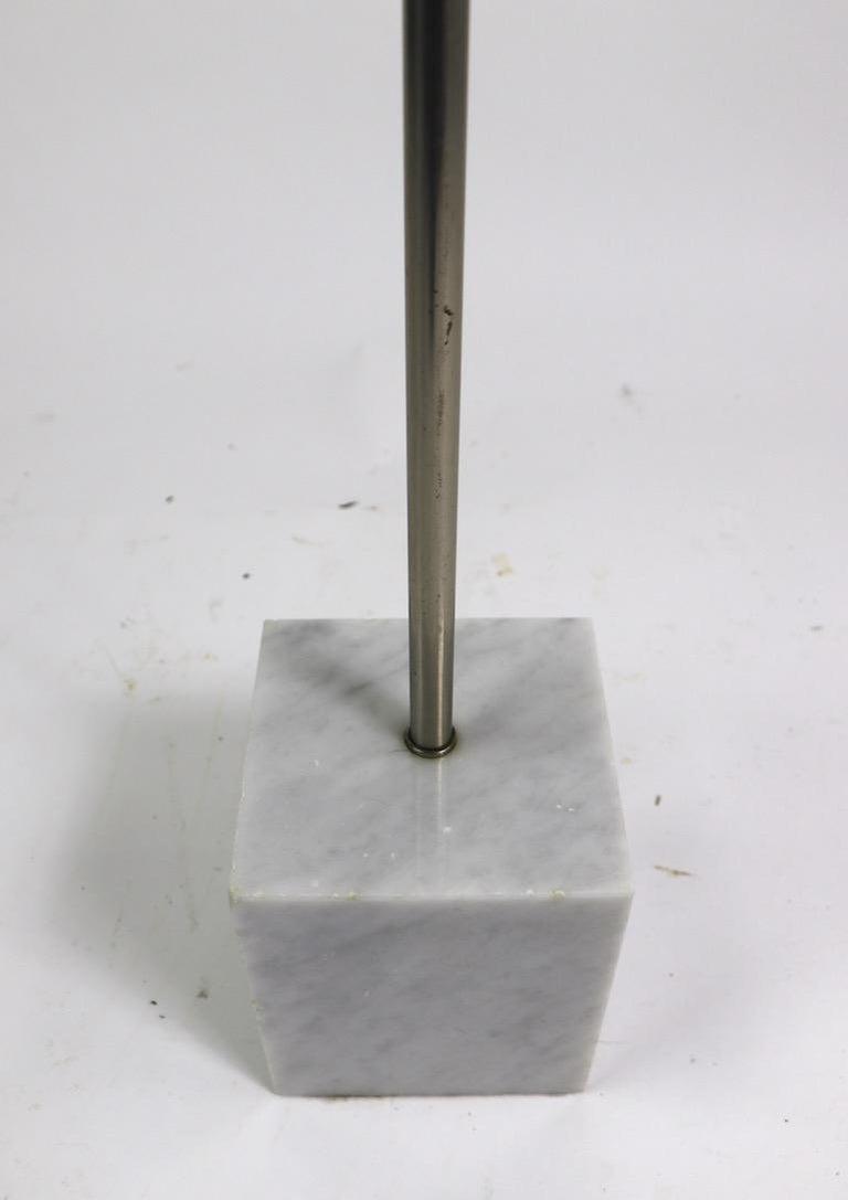 Steel Marble Base Floor Lamp by Laurel For Sale