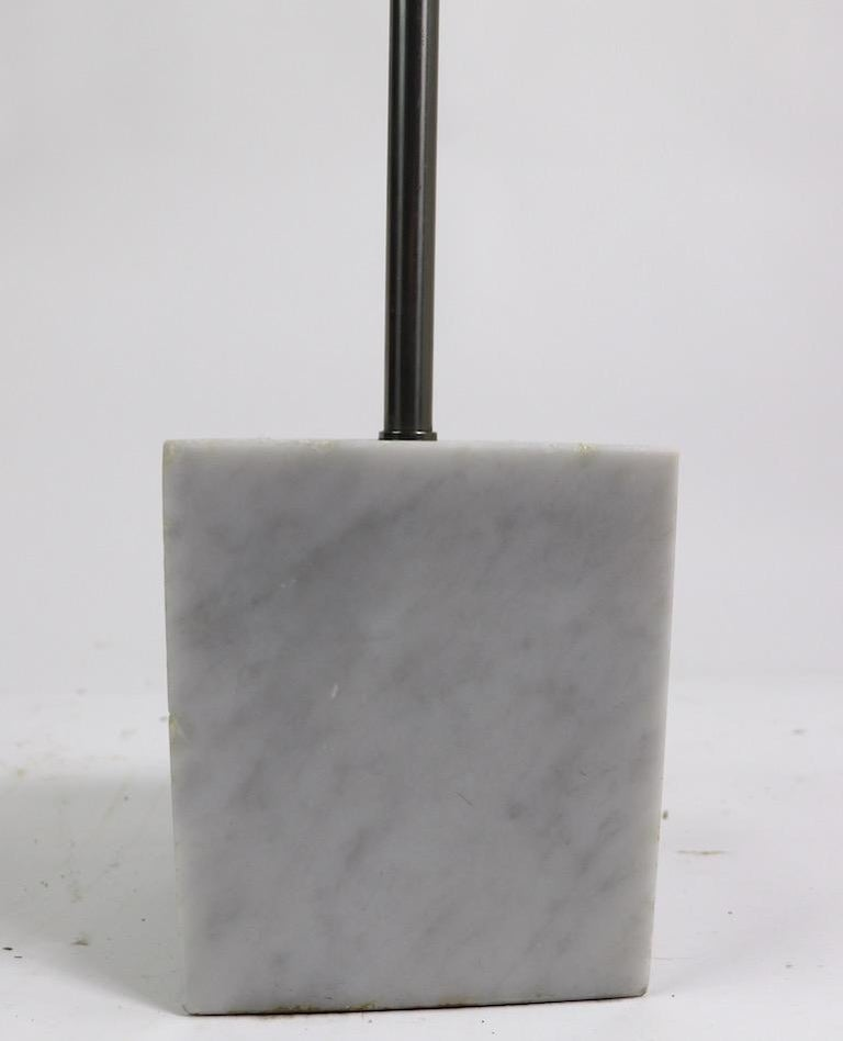 Marble Base Floor Lamp by Laurel For Sale 1