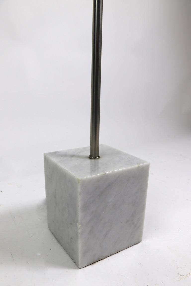 Marble Base Floor Lamp by Laurel For Sale 2