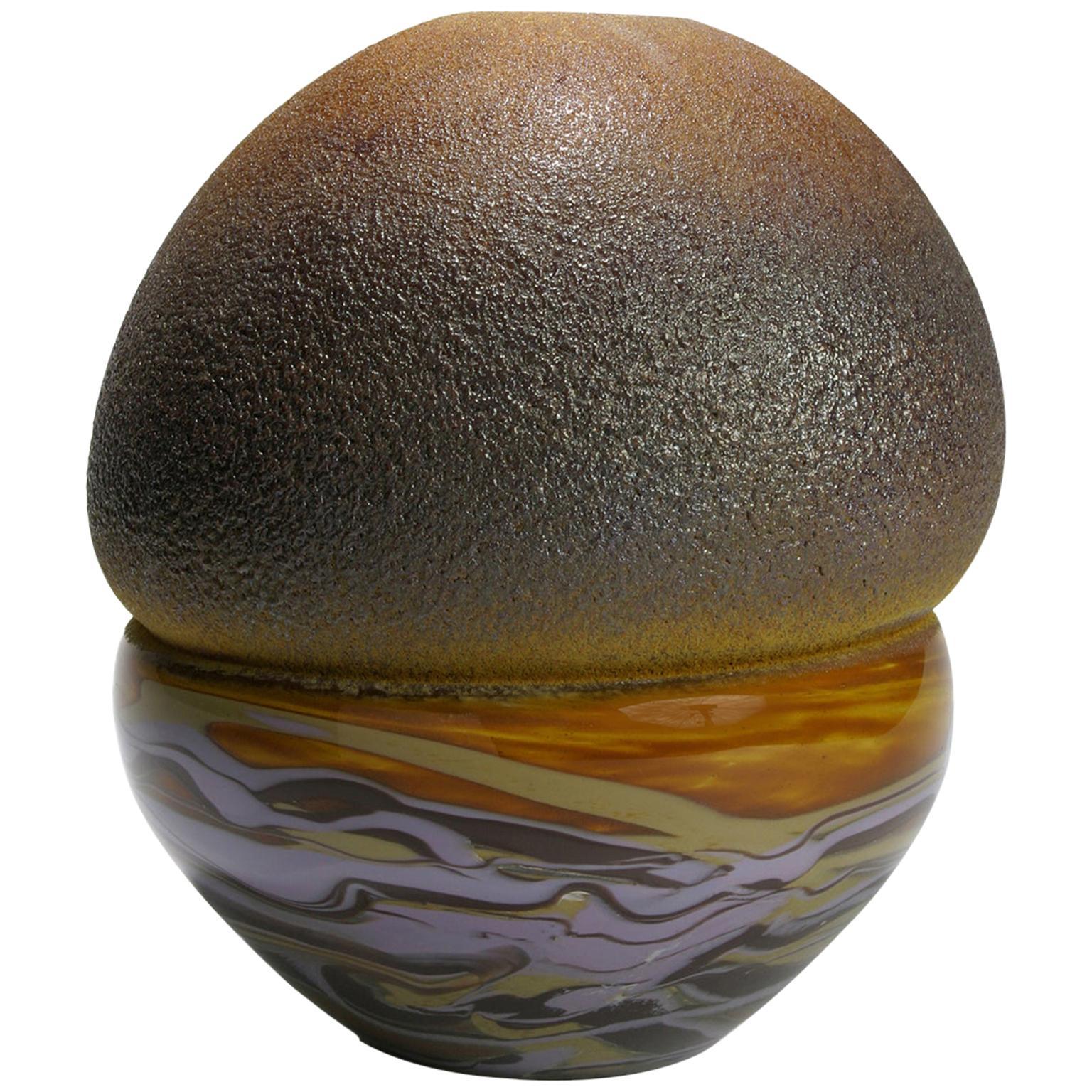 Glass object. Marble Beydik, Hand Blown Object, African Ceramic Inspiration.
