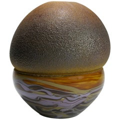 Marble Beydik, Hand Blown Glass Object, African Ceramic Inspiration