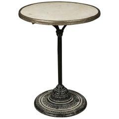 Marble Bistro Table, France, circa 1930