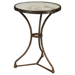 Marble Bistro Table from France, 1960s