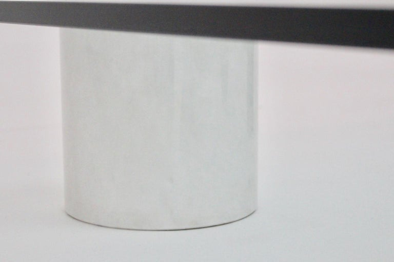Massimo and Lella Vignelli Vintage Black White Marble Coffee Table 1979 Italy For Sale 9