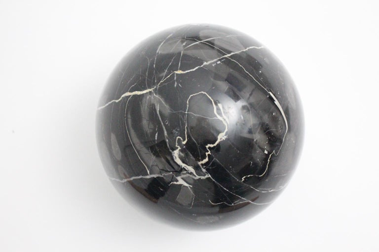 Massimo and Lella Vignelli Vintage Black White Marble Coffee Table 1979 Italy For Sale 10