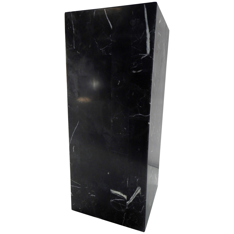 Marble Black Short Square Pedestal