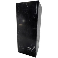 Marble Black Short Square Pedestal