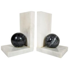 Marble Bookends Geometric Mid Century