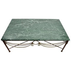 Marble Brass and Steel Coffee Table after Ilana Goor