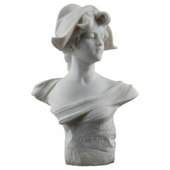 Marble Bust: Cosette With Marianne's Phrygian Cap