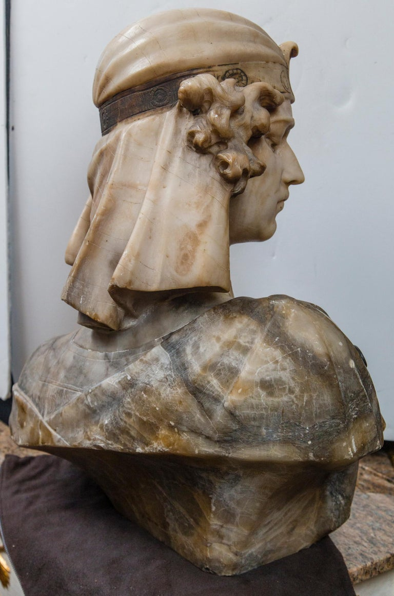Marble Bust of an Egyptian Prince For Sale 2