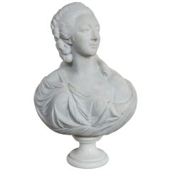 Marble Bust of an Elegant Lady