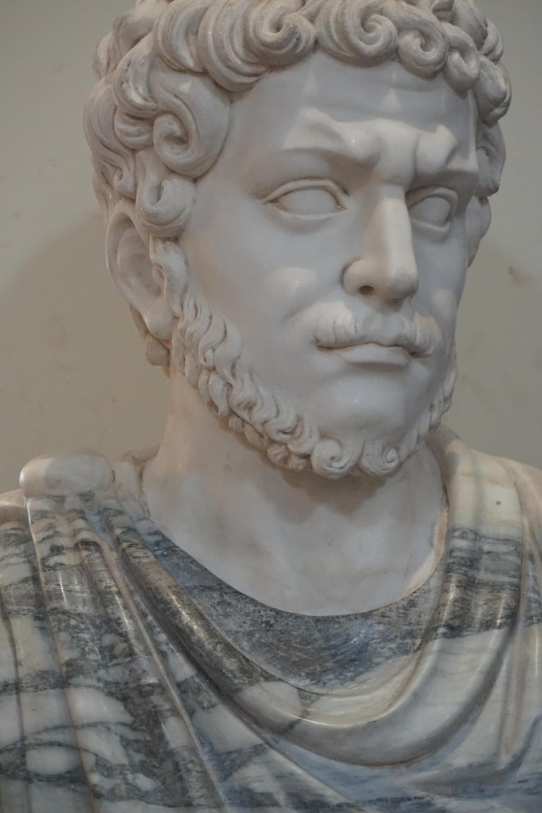 European Marble Bust of Julius Caesar For Sale