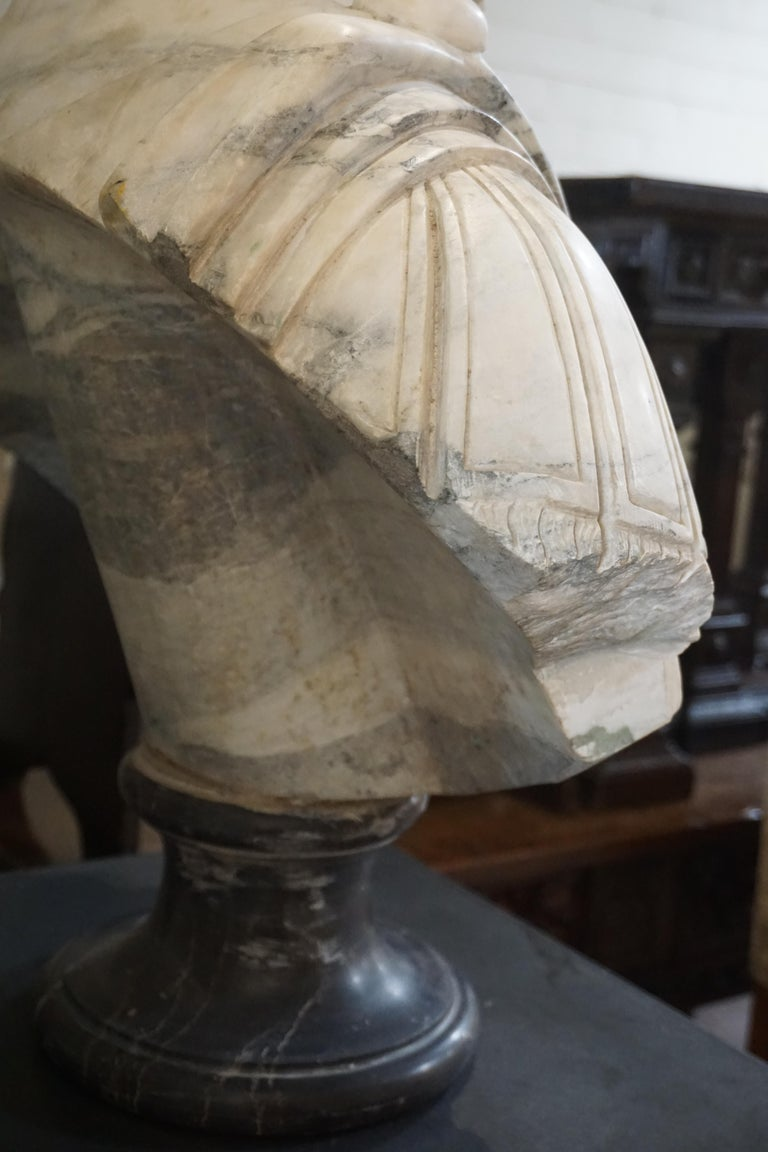 19th Century Marble Bust of Julius Caesar For Sale