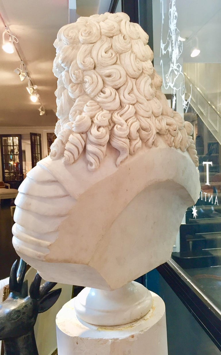 Marble Bust of Louis XIV For Sale 6