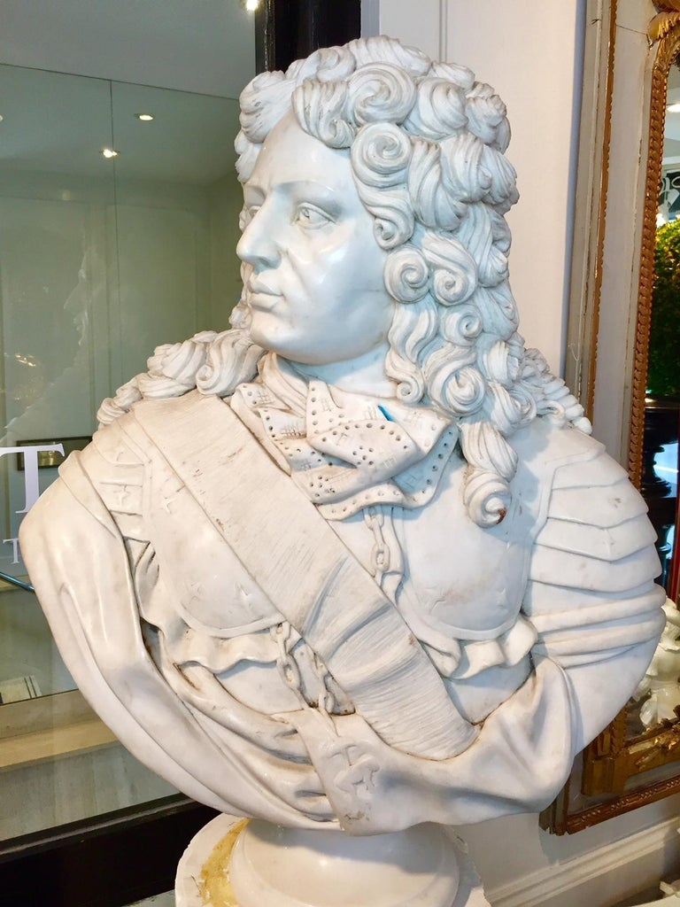 French Marble Bust of Louis XIV For Sale