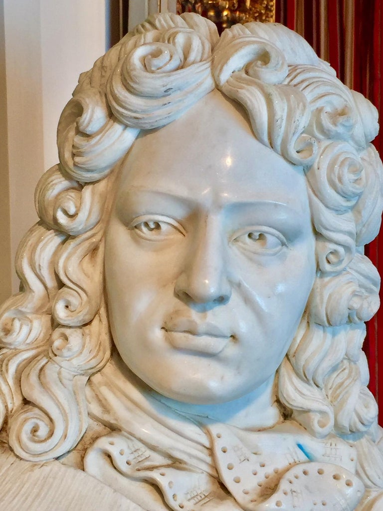 20th Century Marble Bust of Louis XIV For Sale