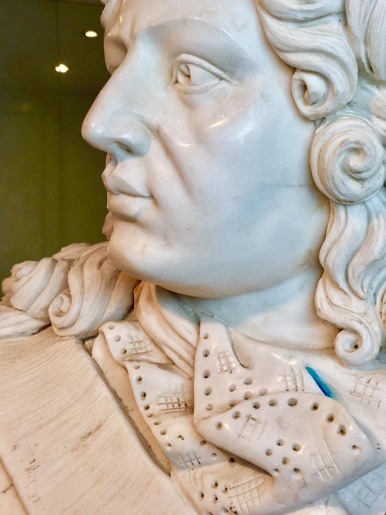 Marble Bust of Louis XIV For Sale 1