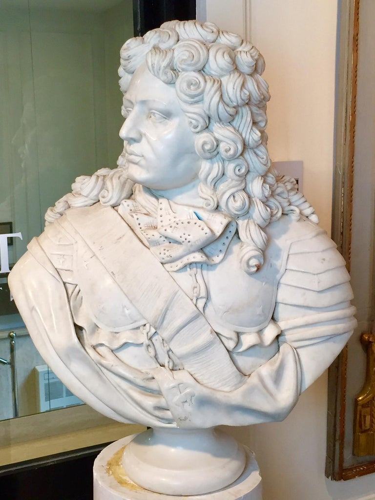 Marble Bust of Louis XIV For Sale 2