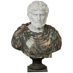 "Marble Bust ""Roman Emperor"", 20th Century"