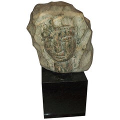 Marble Bust Sculpture on Granite Base Signed Simon