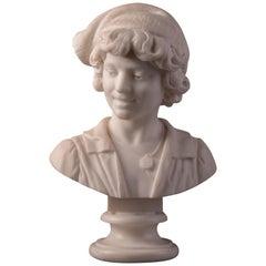 Marble Bust Young Attis with Phrygian Cap, Stefariz Antonio, 1906, Italy