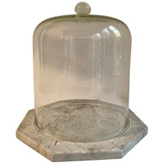 Marble Cheese Server with Bell Jar Dome
