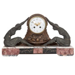 Marble Chimney Mantel Art Deco Clock