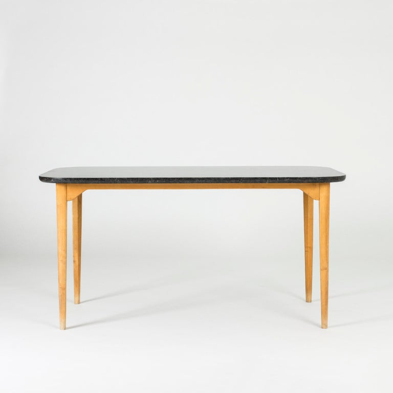 Scandinavian Modern Marble Coffee or Playing Table by Axel Larsson For Sale